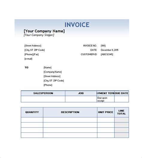 service invoice template   word excel  format