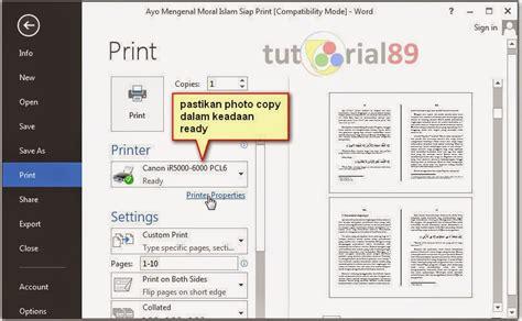Klik tab file pada excel lalu pilih print atau bisa juga ctrl+p. Cara Scan Bolak Balik Di Mesin Fotocopy - Seputar Mesin