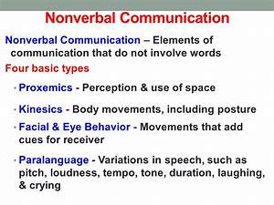 types of nonverbal communication kinesics or its not ...
