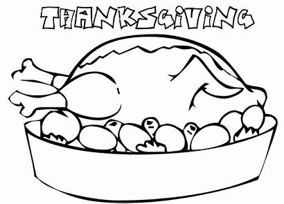 Coloring Thanksgiving Dinner Turkey Pages Printable Table