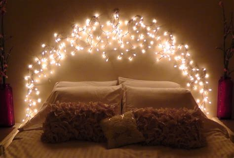 led twinkle lights battery diy icicle light faux headboard