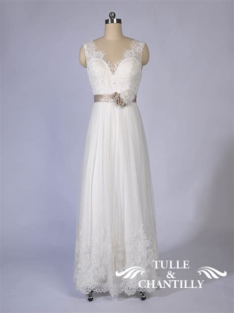 design  wedding dress rustic  neck lace wedding