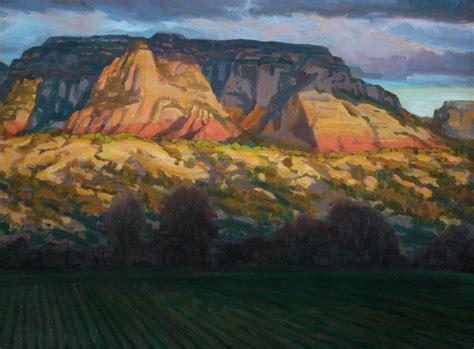canvas print impressionist plein air landscape  zion