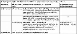 Lieferung Deutschland Rechnung Ausland : checkliste im und export kfz handel in der europ ischen union ~ Themetempest.com Abrechnung