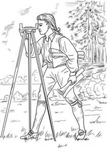 young george washington surveyor  mapmaker coloring