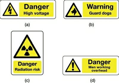 safety signs electrical engineering centre