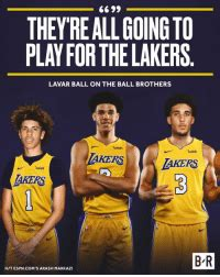THEYRE ALL GOING TO PLAY FOR THE LAKERS LAVAR BALL ON THE ...