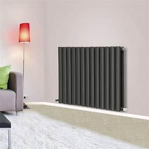 horizontal oval column flat panel designer radiators white With designer radiators for living rooms