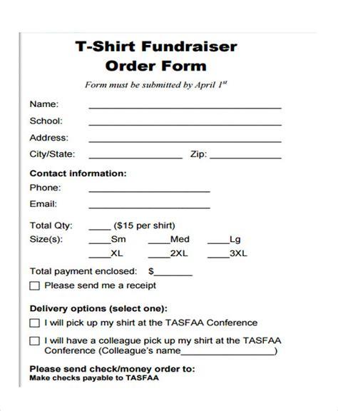 sample fundraiser order forms