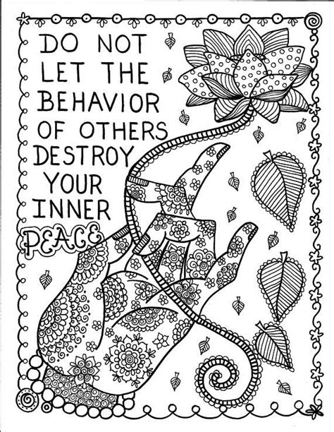 5 Pages Inspiring Coloring pages mantras/yoga/peace/om