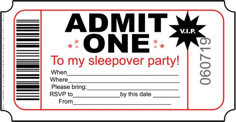 invitation party templates invitations for sleepover party