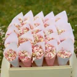 flower petals for wedding shropshire petals vintage confetti cones with pretty pink petals http www shropshirepetals