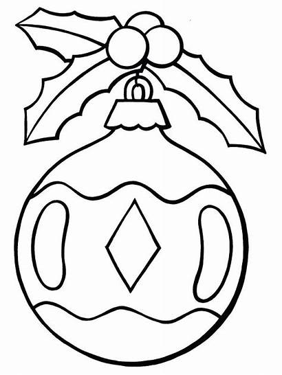 Ornament Christmas Line Drawing Ornaments Coloring Pages