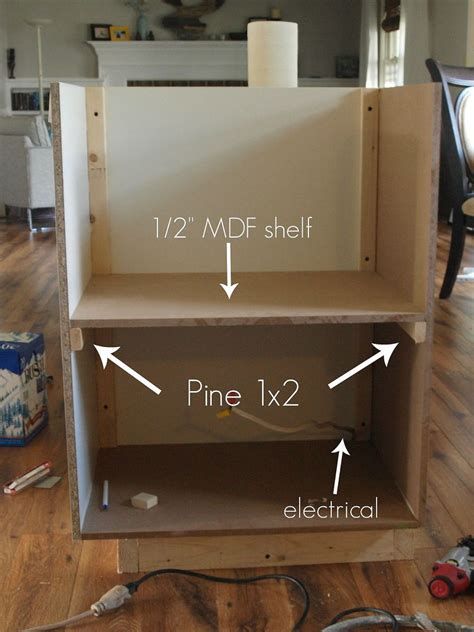 diy custom  counter microwave cabinet hometalk