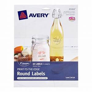 clear avery printable label sheets the container store With avery clear round printable labels