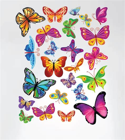 Apply butterflies to the wall with double adhesive tape (check here). Easy Peel and Stick Colorful Butterflies Nursery Decal Instant Home Decor Wall Sticker #3005 ...