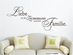 Wandtattoo Sprüche Familie : wandtattoo liebe ist das zauberband ~ Frokenaadalensverden.com Haus und Dekorationen