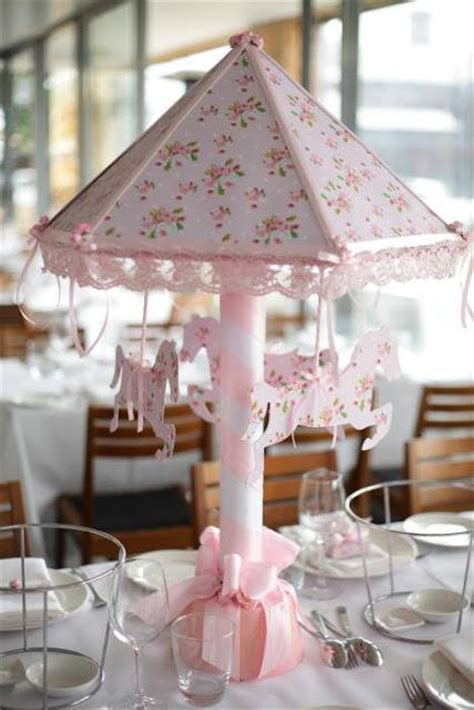 pink carousel themed christening party  le petit party