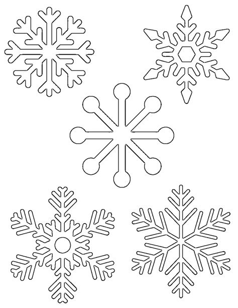 Snowflake Template Free Printable Snowflake Templates Large Small Stencil