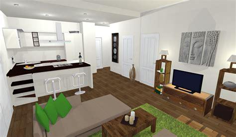 decoration salon avec cuisine ouverte cuisine ouverte sur salon avec idee deco cuisine
