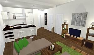 petite cuisine ouverte sur salon avec cuisine cuisine With cuisine et salon ouvert
