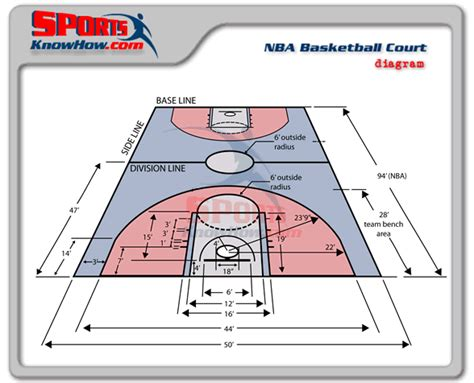 professional nba basketball court dimensions court