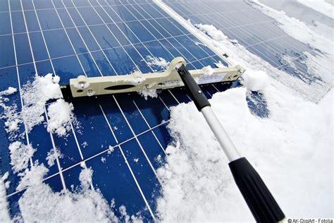 schnee photovoltaik kehren oder abtauen lassen