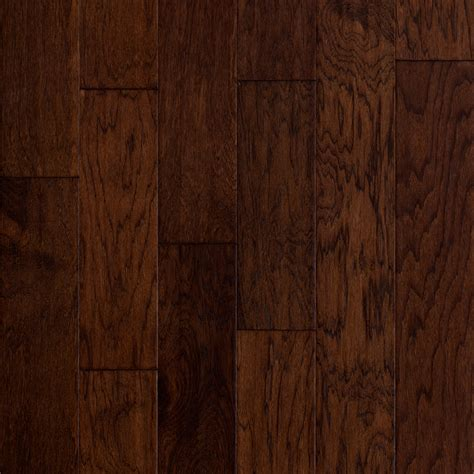 hardwood flooring shop style selections 5 in prefinished barrel engineered hickory hardwood flooring 32 29 sq ft