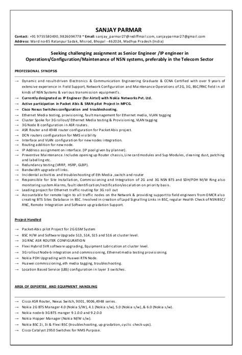 resume sanjay parmar