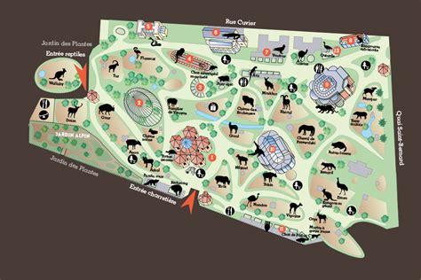 plan du lieu m 233 nagerie le zoo du jardin des plantes
