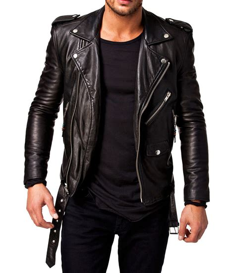 best bike jackets men leather jacket stylish slim fit soft lambskin bomber