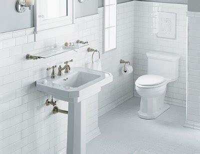 white clean subway tile with hex tile bla bla bathroom