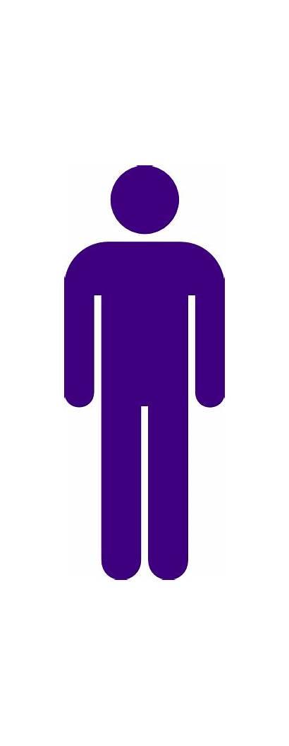 Purple Toilet Icon Male Sign Clip Clker