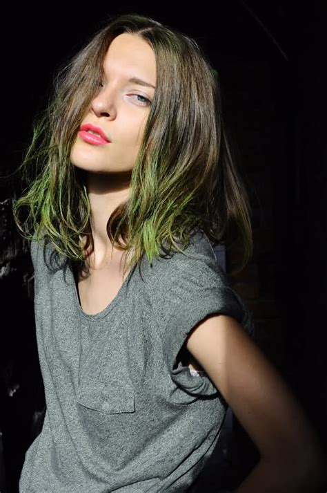 green dip dye hair hair colors ideas