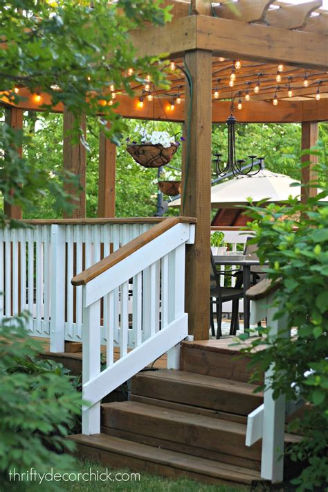 beautiful outdoor dining room  thrifty decor chick