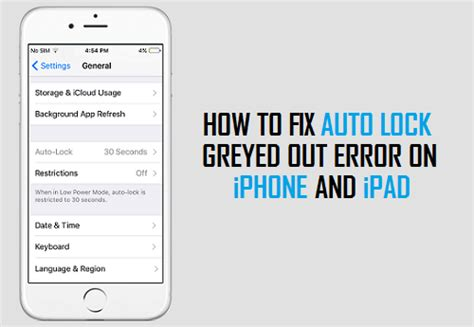 how to turn auto lock on iphone how to fix auto lock greyed out on iphone