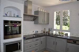 Relooker Meuble Rustique : moderniser une cuisine en bois cuisine rustique repeinte ~ Preciouscoupons.com Idées de Décoration