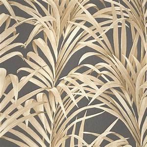 Papier Peint Noir Et Doré : papier peint noir et dor diblasi ~ Melissatoandfro.com Idées de Décoration