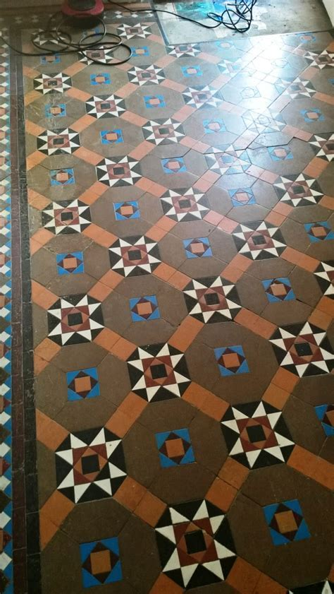 Original Victorian Tiled Hallway Repaired, Cleaned and