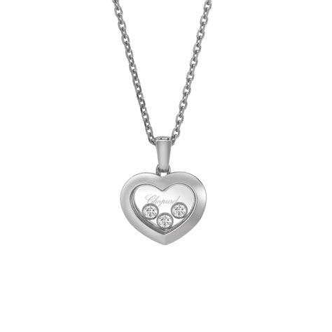 Chopard 18ct White Gold Happy Diamonds New Icons Heart ...