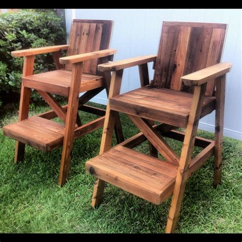 Wooden Lifeguard Chair Plans by Reclaimed Cedar Lifeguard Chairs By Stephenschaad