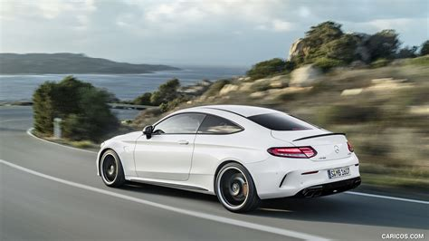The front seats are comfortable and feature supportive. 2019 Mercedes-AMG C 63 S Coupe with Night package and Carbon-package II (Color: Designo Diamond ...
