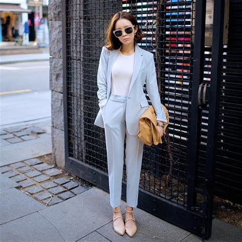 light blue suit womens light blue womens pant suit dress yy