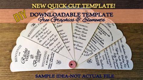 diy printable wedding petal fan program outline template