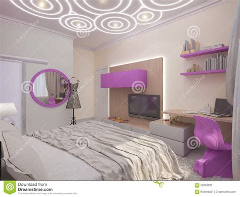 chambre 3d illustration 3d d 39 une chambre à coucher pour la