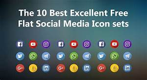 Free Resume Builder The 10 Best Excellent Free Flat Social Media Icons Sets