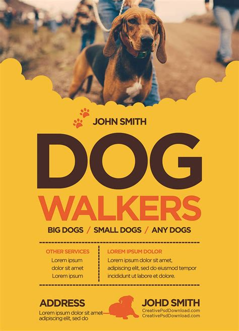 Permalink to Dog Walking Flyer