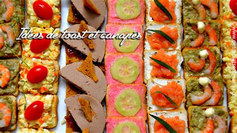 recettes canap駸 faciles idées de toast et canapés apéritif petits plats entre amis