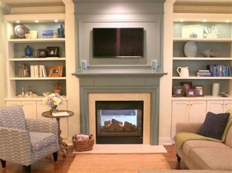 small country living room ideas surprising shelves either side of fireplace images