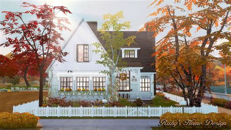 Ruby's Home Design : Autumn Cottage At Ruby's Home Design » Sims 4 Updates